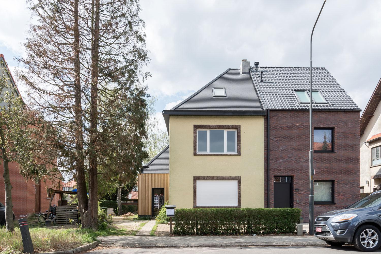 Woning DK Mortsel - nieuwe voorgevel- PAEN architectuur